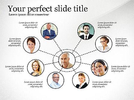 Company Organization Diagram, Slide 8, 02958, Organizational Charts — PoweredTemplate.com