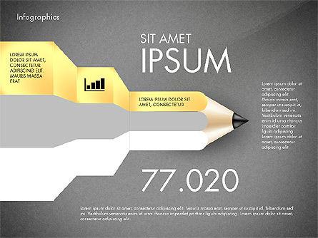 Infographics with Pencil, Slide 10, 02959, Infographics — PoweredTemplate.com