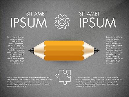 Infographics with Pencil, Slide 12, 02959, Infographics — PoweredTemplate.com