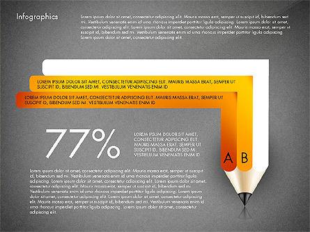 Infographics with Pencil, Slide 13, 02959, Infographics — PoweredTemplate.com