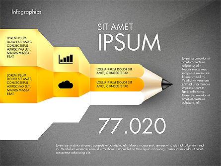 Infographics with Pencil, Slide 14, 02959, Infographics — PoweredTemplate.com