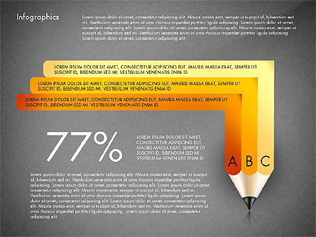 Infographics with Pencil, Slide 15, 02959, Infographics — PoweredTemplate.com