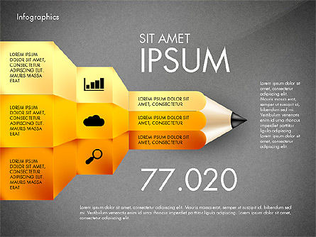 Infographics with Pencil, Slide 16, 02959, Infographics — PoweredTemplate.com