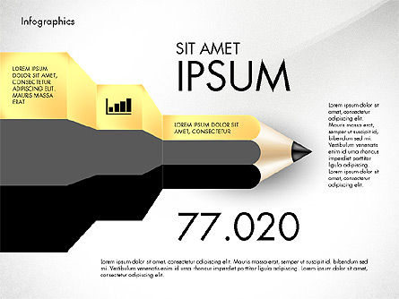 Infographics with Pencil, Slide 2, 02959, Infographics — PoweredTemplate.com