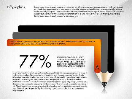 Infographics with Pencil, Slide 3, 02959, Infographics — PoweredTemplate.com