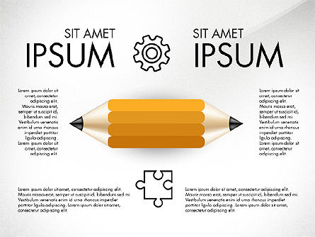 Infographics with Pencil, Slide 4, 02959, Infographics — PoweredTemplate.com