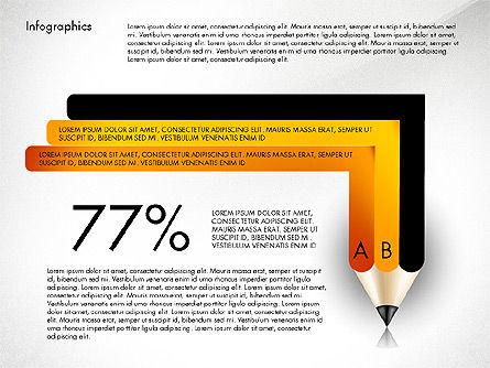 Infographics with Pencil, Slide 5, 02959, Infographics — PoweredTemplate.com