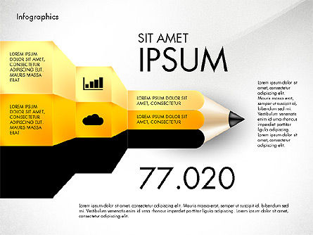 Infographics with Pencil, Slide 6, 02959, Infographics — PoweredTemplate.com