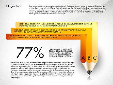 Infographics with Pencil, Slide 7, 02959, Infographics — PoweredTemplate.com