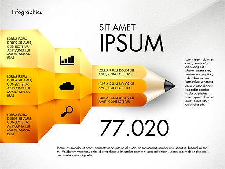 Infographics with Pencil, Slide 8, 02959, Infographics — PoweredTemplate.com