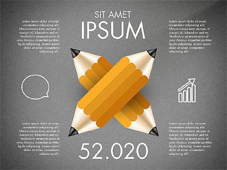 Infographics with Pencil, Slide 9, 02959, Infographics — PoweredTemplate.com