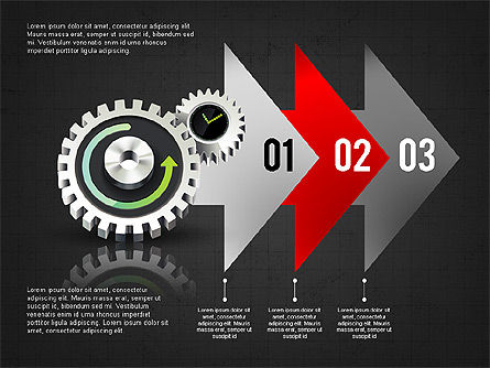 Business Process Stages Concept, Slide 11, 02962, Process Diagrams — PoweredTemplate.com