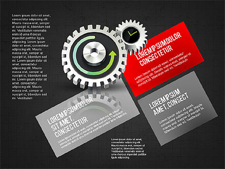 Business Process Stages Concept, Slide 13, 02962, Process Diagrams — PoweredTemplate.com