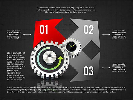 Business Process Stages Concept, Slide 16, 02962, Process Diagrams — PoweredTemplate.com