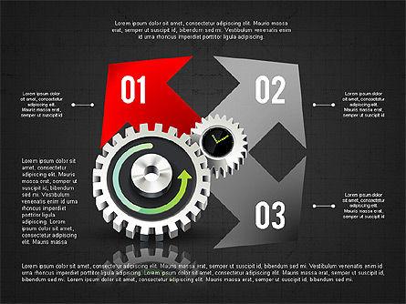 Business Process Stages Concept, Slide 8, 02962, Process Diagrams — PoweredTemplate.com