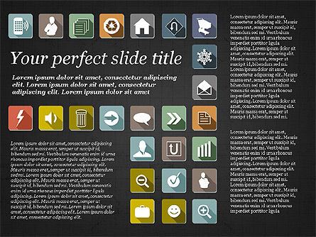 Presentation Template with Flat Icons, Slide 12, 02964, Icons — PoweredTemplate.com