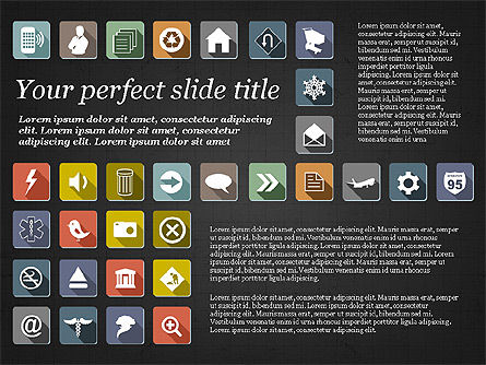 Presentation Template with Flat Icons, Slide 14, 02964, Icons — PoweredTemplate.com