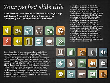 Presentation Template with Flat Icons, Slide 15, 02964, Icons — PoweredTemplate.com