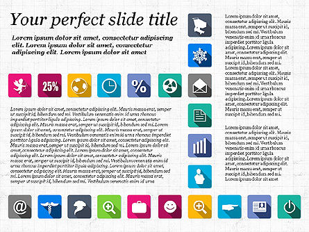 Presentation Template with Flat Icons, Slide 3, 02964, Icons — PoweredTemplate.com