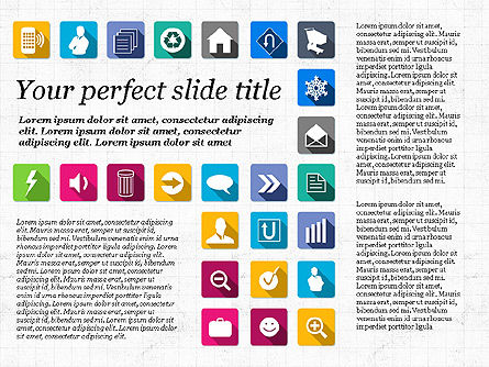 Presentation Template with Flat Icons, Slide 4, 02964, Icons — PoweredTemplate.com