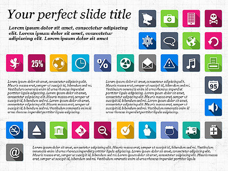 Presentation Template with Flat Icons, Slide 5, 02964, Icons — PoweredTemplate.com