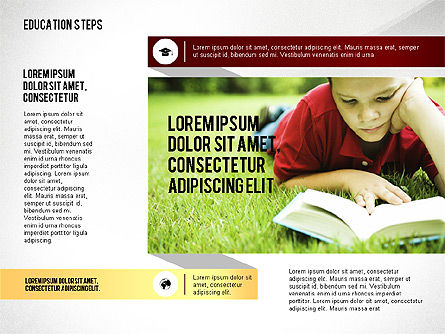 Education Steps, 02966, Education Charts and Diagrams — PoweredTemplate.com