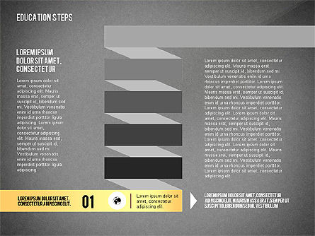 Education Steps, Slide 10, 02966, Education Charts and Diagrams — PoweredTemplate.com
