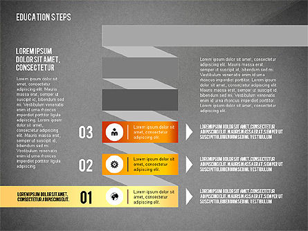 Education Steps, Slide 12, 02966, Education Charts and Diagrams — PoweredTemplate.com
