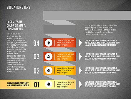Education Steps, Slide 13, 02966, Education Charts and Diagrams — PoweredTemplate.com