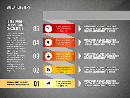 Education Steps, Slide 14, 02966, Education Charts and Diagrams — PoweredTemplate.com
