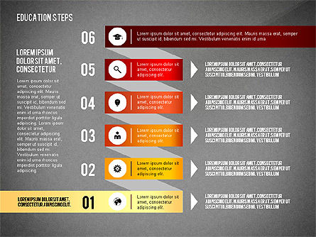 Education Steps, Slide 15, 02966, Education Charts and Diagrams — PoweredTemplate.com