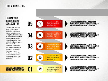 Education Steps, Slide 6, 02966, Education Charts and Diagrams — PoweredTemplate.com
