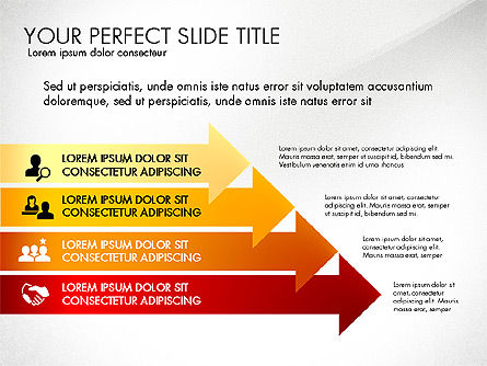Directions and Options, Slide 6, 02967, Process Diagrams — PoweredTemplate.com