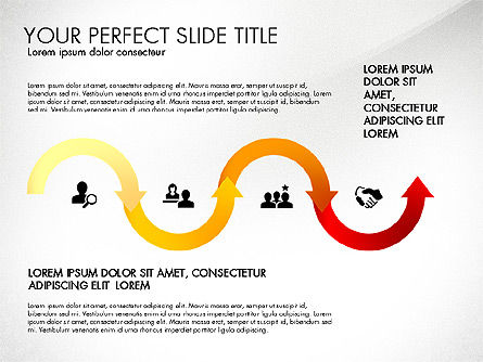 Directions and Options, Slide 7, 02967, Process Diagrams — PoweredTemplate.com