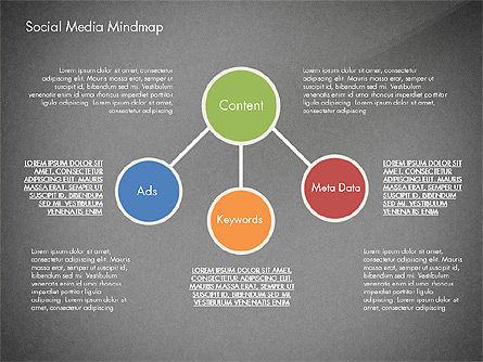 Social Media Mind Map, Slide 16, 02968, Organizational Charts — PoweredTemplate.com