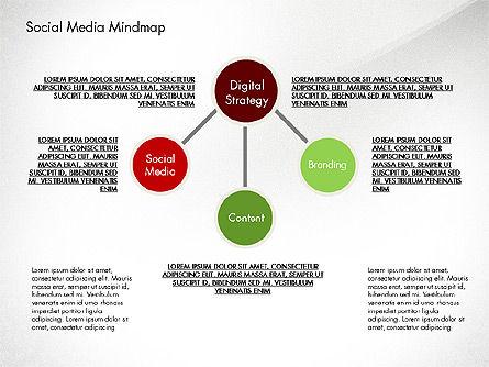 Social Media Mind Map, Slide 5, 02968, Organizational Charts — PoweredTemplate.com