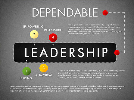 Leadership Concept Presentation Template, Slide 14, 02969, Presentation Templates — PoweredTemplate.com