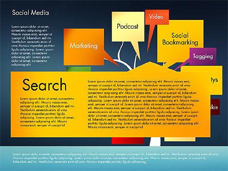 Social Media Tree, Slide 10, 02971, Presentation Templates — PoweredTemplate.com