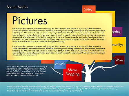 Social Media Tree, Slide 12, 02971, Presentation Templates — PoweredTemplate.com