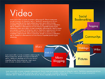 Social Media Tree, Slide 13, 02971, Presentation Templates — PoweredTemplate.com