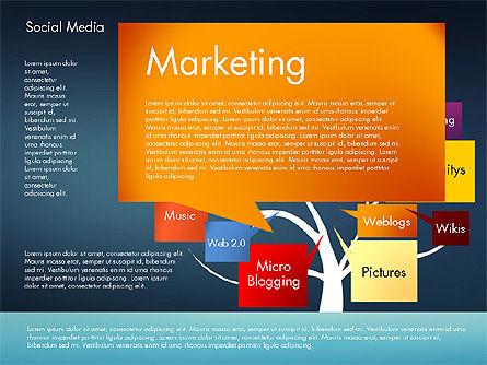 Social Media Tree, Slide 15, 02971, Presentation Templates — PoweredTemplate.com