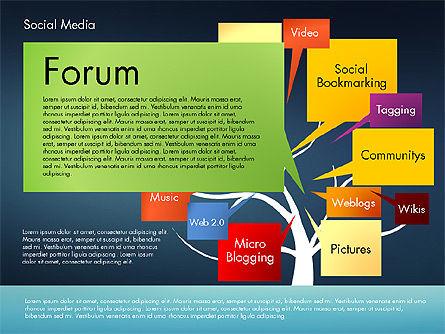 Social Media Tree, Slide 16, 02971, Presentation Templates — PoweredTemplate.com