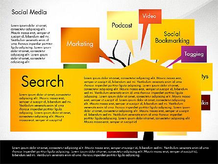 Social Media Tree, Slide 2, 02971, Presentation Templates — PoweredTemplate.com
