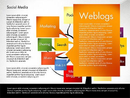 Social Media Tree, Slide 3, 02971, Presentation Templates — PoweredTemplate.com