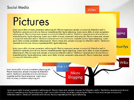 Social Media Tree, Slide 4, 02971, Presentation Templates — PoweredTemplate.com