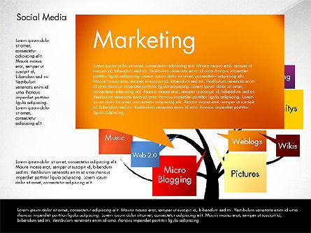 Social Media Tree, Slide 7, 02971, Presentation Templates — PoweredTemplate.com