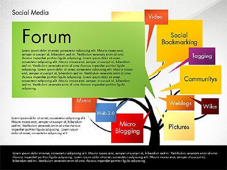 Social Media Tree, Slide 8, 02971, Presentation Templates — PoweredTemplate.com