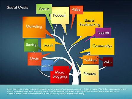 Social Media Tree, Slide 9, 02971, Presentation Templates — PoweredTemplate.com