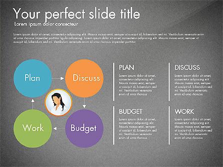 Work Plan Discussion Diagram, Slide 10, 02977, Business Models — PoweredTemplate.com