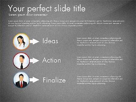Work Plan Discussion Diagram, Slide 14, 02977, Business Models — PoweredTemplate.com